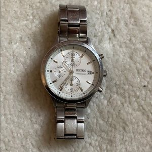 Seiko silver women's watch